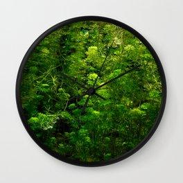 Underwater green Wall Clock