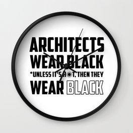 ARCHITECTS WEAR BLACK Wall Clock