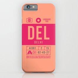 Baggage Tag B - DEL Delhi India iPhone Case