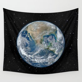 EARTH FROM SPACE Wall Tapestry