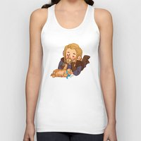 fili Tank Tops featuring Fili and Kitten by Hattie Hedgehog