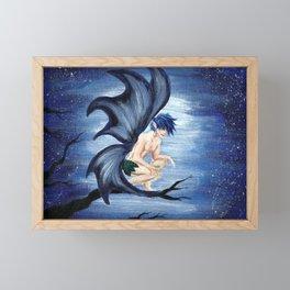 Blue Fairy Framed Mini Art Print
