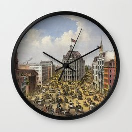 Broadway, New York by Currier & Ives (1875) Wall Clock