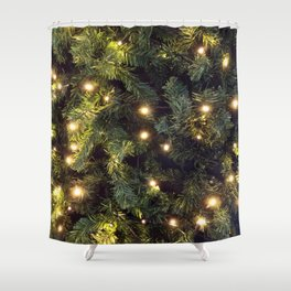Christmas tree relaxing Light Shower Curtain