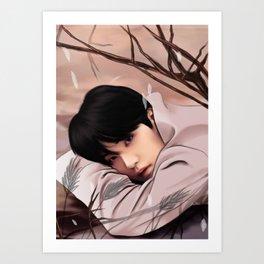 BTS SUGA LOVE YOURSELF FANART Art Print