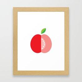 Apple hearts Framed Art Print