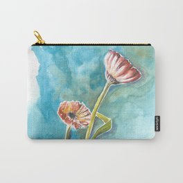 Blooms on Turquoise Carry-All Pouch