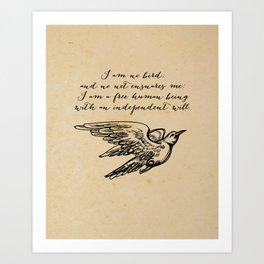 Jane Eyre - No bird - Bronte Art Print