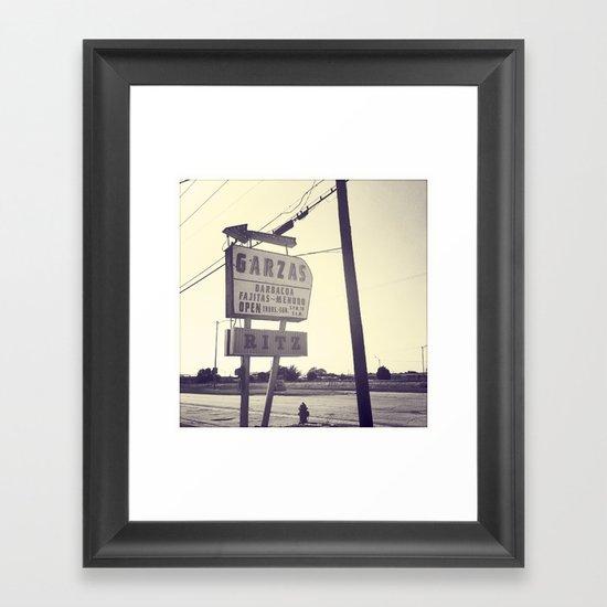 Garza's + Ritz Framed Art Print