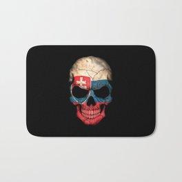 Dark Skull with Flag of Slovakia Bath Mat