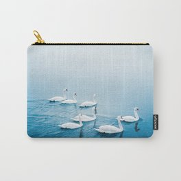 Swan Lake - Group Of Swans In Winter Carry-All Pouch