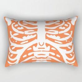 Human Rib Cage Pattern Orange 2 Rectangular Pillow
