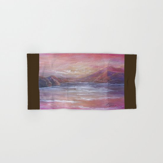 Landscape in Pink MM150601 Hand & Bath Towel