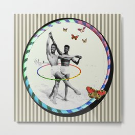Ballet Hooping on The Beach with Butterflies Metal Print