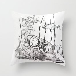 The Symbol of Eternal Love Throw Pillow