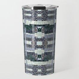 Woven Plaid Travel Mug