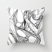 passion Throw Pillows featuring Passion by Jasmine Smith