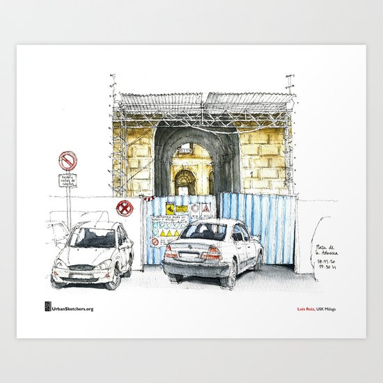 "Luis Ruiz, ""Málaga, Bad Parking"" Art Print"