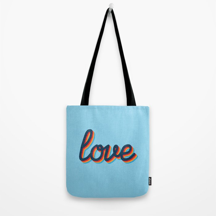 Love - blue version Tote Bag