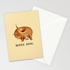 Beagle Bagel Stationery Cards
