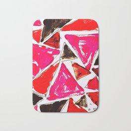 Red Pink Triangle Bath Mat