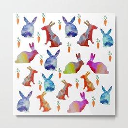 Rabbits Joy Metal Print