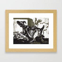 Sheep in Labor Framed Art Print