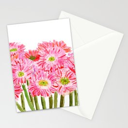 Pink Gerbera Daisy watercolor Stationery Cards