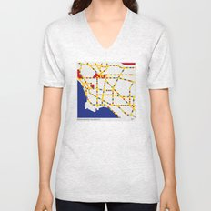 BOOGIE WOOGIE LOS ANGELES Unisex V-Neck