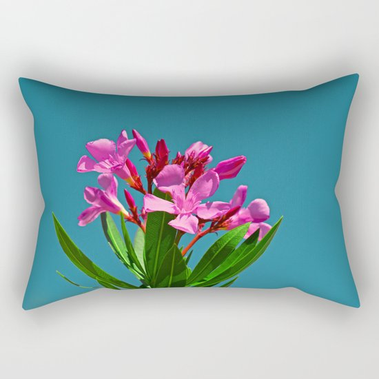 Pretty in pink under turquoise sky Rectangular Pillow
