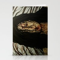 evil dead Stationery Cards featuring Evil Dead by Lydia Dick