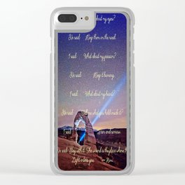 The Wound Is The Place Where The Light Enters You - Rumi Clear iPhone Case