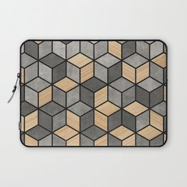 Concrete and Wood Cubes Laptop Sleeve