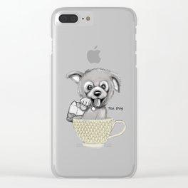 Tea Dog Clear iPhone Case