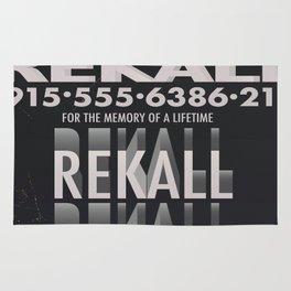 Rekall ( Total Recall ) Vintage magazine commercial. Rug