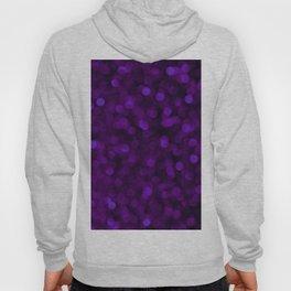 Purple Ultra Violet Glitter Bokeh Glam Pattern Hoody