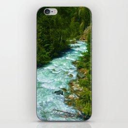 Here Be Bears - Black Bear and Wilderness River iPhone Skin