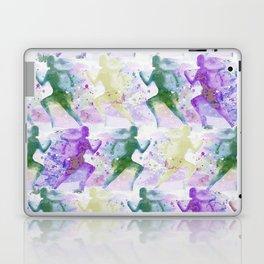 Watercolor women runner pattern Laptop & iPad Skin