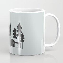 Modern House in Trees Coffee Mug