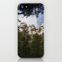 Mount Rushmore National Memorial, South Dakota, Presedential Trail iPhone Case