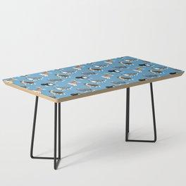 Australian Shepherd Pattern (Blue Background) Coffee Table