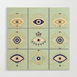 Evil Eye Collection Wood Wall Art
