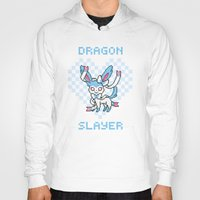 sylveon Hoodies featuring 8-Bit Shiny Sylveon by einjello