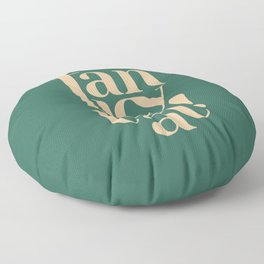 Fancy That Typographic Art Floor Pillow