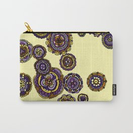 Yellow Mandala Flowers Carry-All Pouch