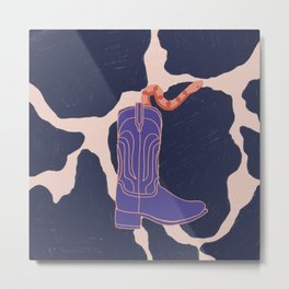There's A Snake in My Boot Metal Print
