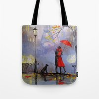 romantic Tote Bags featuring Romantic by OLHADARCHUK