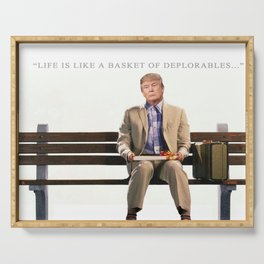 Forrest Gump Parody Of Donald Trump Serving Tray