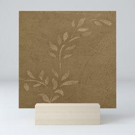 Sepia Vine Vintage Floral - Rustic - Hygge - Modern - Vintage - Farmhouse - Corbin Henry Mini Art Print