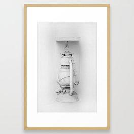 White Lantern Framed Art Print